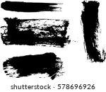 set of grunge brushes.vector... | Shutterstock .eps vector #578696926