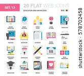 vector set of education and... | Shutterstock .eps vector #578702458