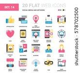 vector set of social media and... | Shutterstock .eps vector #578702500
