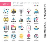 vector set of corporate... | Shutterstock .eps vector #578702524