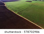 aerial view of fields and... | Shutterstock . vector #578702986
