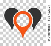 map pointers icon. vector... | Shutterstock .eps vector #578712124