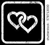 linked hearts rubber watermark. ... | Shutterstock .eps vector #578713030