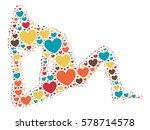yoga shape design vector...   Shutterstock .eps vector #578714578