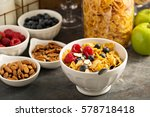 breakfast cereal bar or buffet... | Shutterstock . vector #578718418