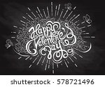 hand drawn doodle hearts ... | Shutterstock .eps vector #578721496