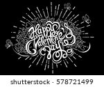 hand drawn doodle hearts ... | Shutterstock .eps vector #578721499