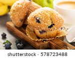 Blueberry And Banana Muffins...