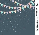 bunting flags. gorgeous... | Shutterstock .eps vector #578725174