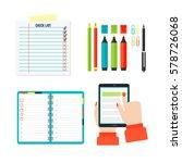agenda list concept vector... | Shutterstock .eps vector #578726068