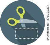 scissors cutting coupon icon on ... | Shutterstock .eps vector #578726314