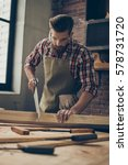 young stylish cabinet maker... | Shutterstock . vector #578731720