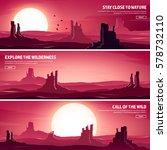 desert trip. extreme tourism... | Shutterstock .eps vector #578732110