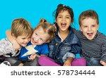 children smiling happiness... | Shutterstock . vector #578734444