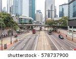 roads and building in hongkong  ... | Shutterstock . vector #578737900