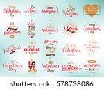 happy valentines day typography ... | Shutterstock .eps vector #578738086