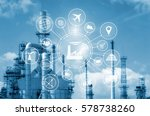industry 4.0 concept  smart... | Shutterstock . vector #578738260