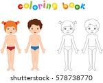 boy and girl unclothed.... | Shutterstock .eps vector #578738770