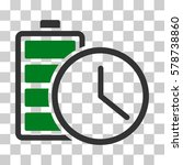 battery time icon. vector... | Shutterstock .eps vector #578738860