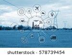 industry 4.0 concept  smart... | Shutterstock . vector #578739454