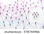 linking entities. networking ... | Shutterstock . vector #578744986