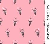 seamless pattern  ice cream art ... | Shutterstock .eps vector #578748499