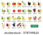 fruits icons vector | Shutterstock .eps vector #578749810