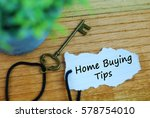 key and torn paper with text... | Shutterstock . vector #578754010
