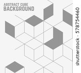 geometric lines. line pattern.... | Shutterstock .eps vector #578754460