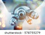 laboratory microscope.... | Shutterstock . vector #578755279