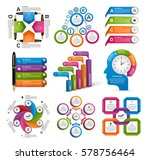 collection infographics. design ... | Shutterstock .eps vector #578756464