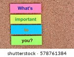 Small photo of What's important to you question on colorful notes