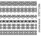 set of black borders isolated... | Shutterstock . vector #578771386