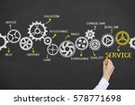 service concepts on chalkboard... | Shutterstock . vector #578771698