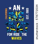 california ride the waves t... | Shutterstock .eps vector #578772034