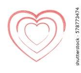 frame painted valentine heart... | Shutterstock .eps vector #578773474