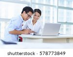 young asian business people in... | Shutterstock . vector #578773849