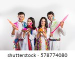 4 indian friends or 2 young... | Shutterstock . vector #578774080