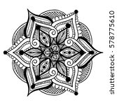 mandalas for coloring book.... | Shutterstock .eps vector #578775610