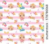 seamless pattern  cute bear... | Shutterstock .eps vector #578780068