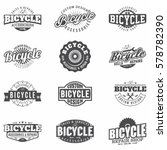 bicycle emblems  logo and... | Shutterstock .eps vector #578782390