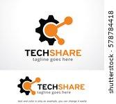 tech share logo template design ... | Shutterstock .eps vector #578784418