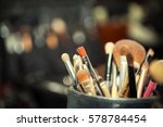 close up of make up table with...   Shutterstock . vector #578784454