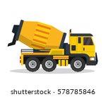 modern flat construction... | Shutterstock .eps vector #578785846