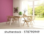modern dinner room with green... | Shutterstock . vector #578790949