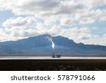 solar tower at the ivanpah... | Shutterstock . vector #578791066