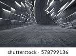 empty dark abstract concrete... | Shutterstock . vector #578799136