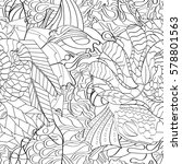 tracery seamless calming... | Shutterstock .eps vector #578801563