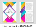 abstract vector layout... | Shutterstock .eps vector #578801608