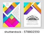 abstract vector layout... | Shutterstock .eps vector #578802550